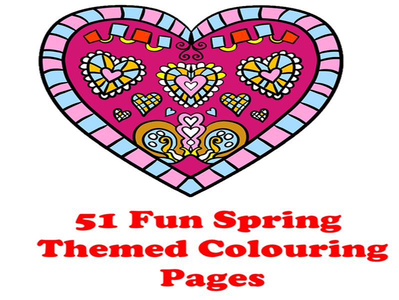 51 Spring Themed Colouring Pages - They are anti - stress colouring pages - perfect for KS1 and KS2