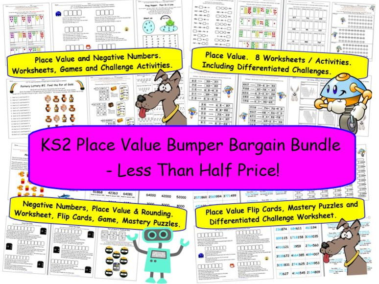 KS2 Place Value Bumper Bargain Bundle - Less Than Half Price!