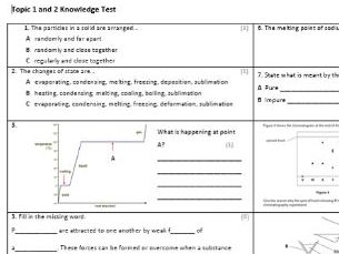 Edexcel CC4 Chemistry Knowledge Assessment