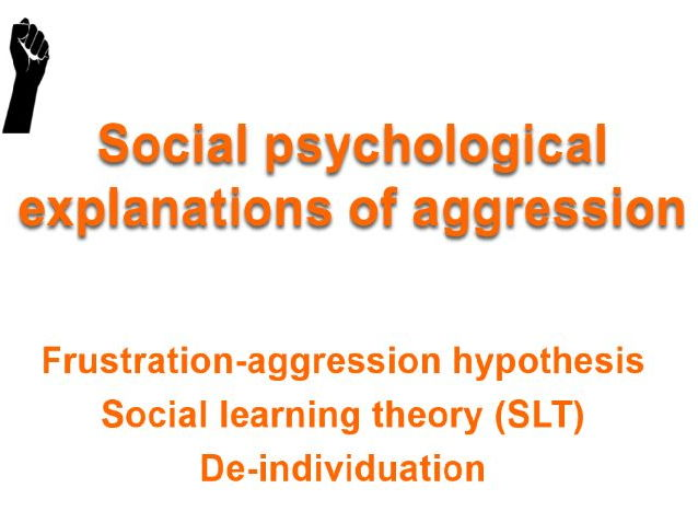 AQA psychology Aggression Social psychological explanations of aggression