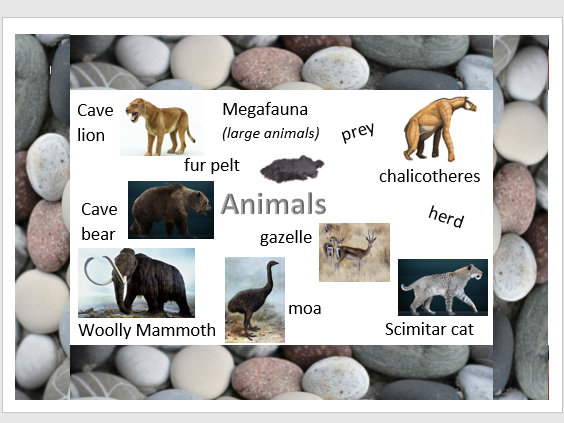 Stone Age Word Mats