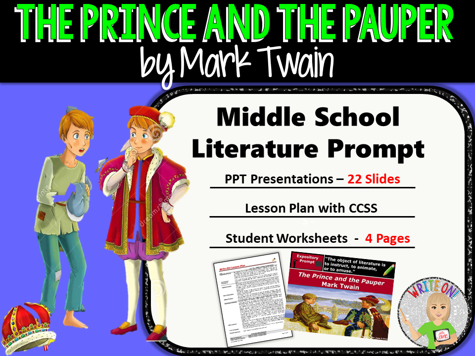 The Prince and the Pauper by Mark Twain - Text Dependent Analysis Expository Writing