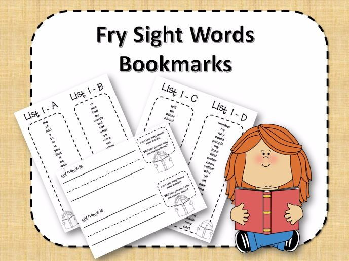 Fry Sight Word Bookmarks - 1 to 1000