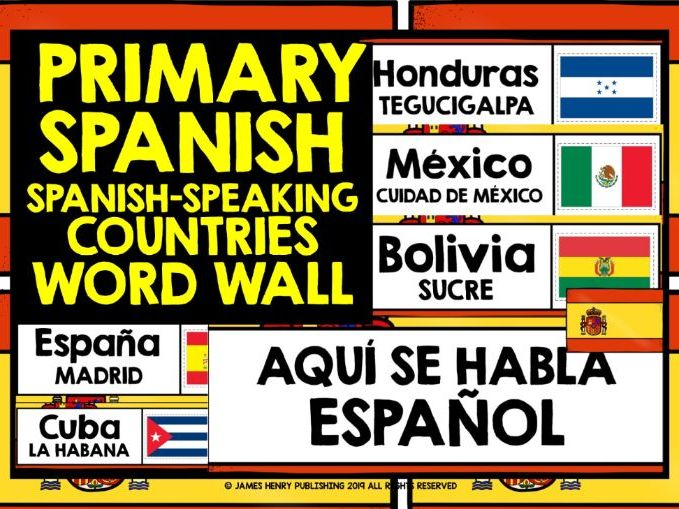 PRIMARY SPANISH SPANISH-SPEAKING DISPLAY WORD WALL