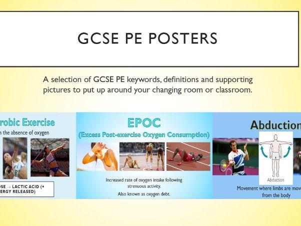 GCSE PE Keyword Posters - New Spec