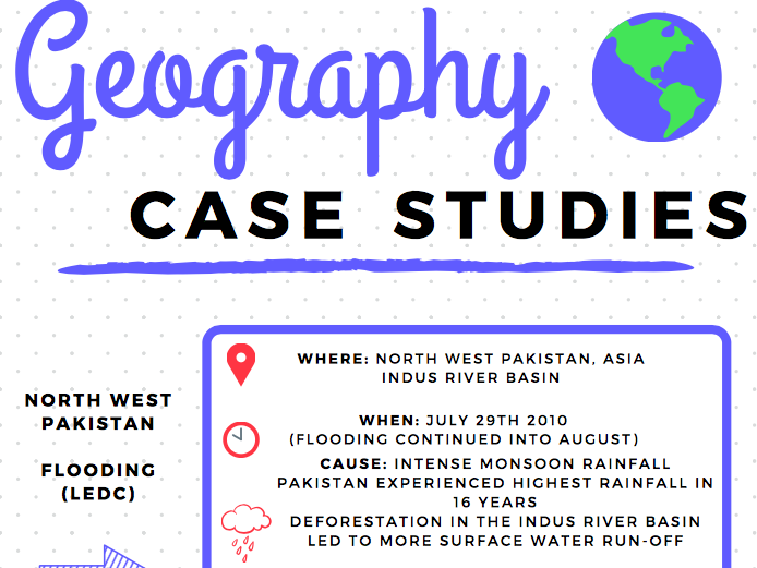 Geography Case Study Information Sheets