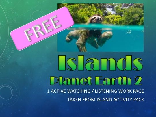 FREE - BBC Planet Earth 2 - Active Watching Work Page