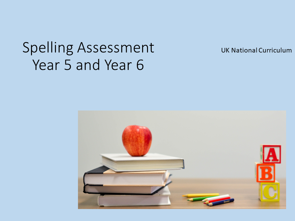 KS2 Spelling assessments Term 1