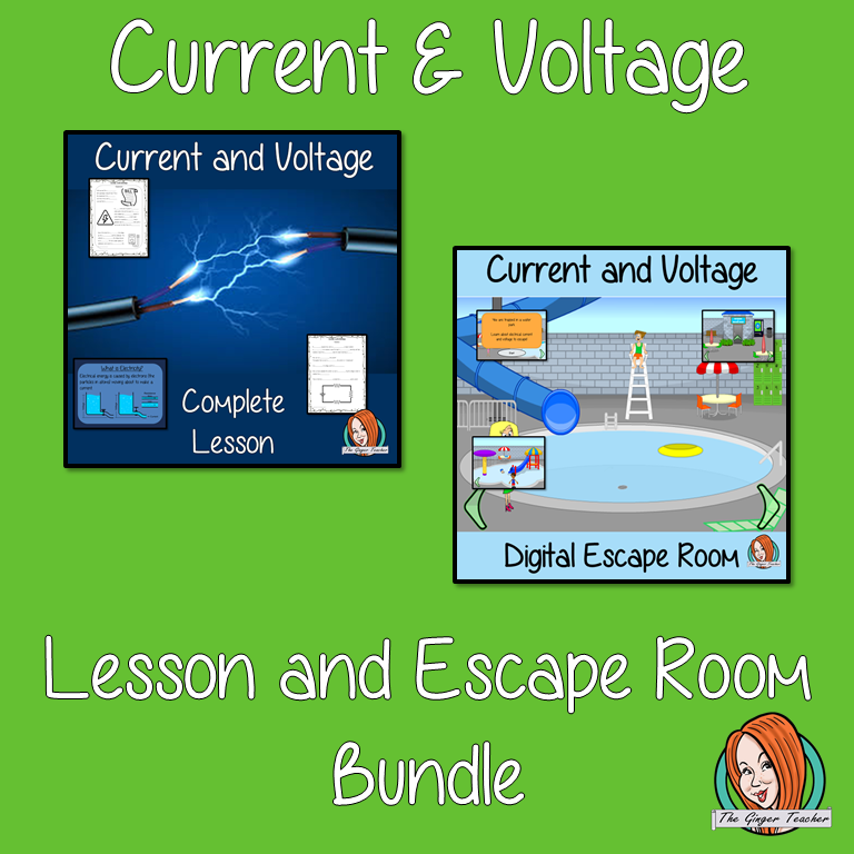 Current and Voltage Lesson and Escape Room Bundle