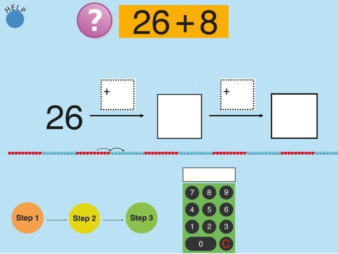 Adding: bridging through 10 up to 100 Worksheets & Teaching Resource