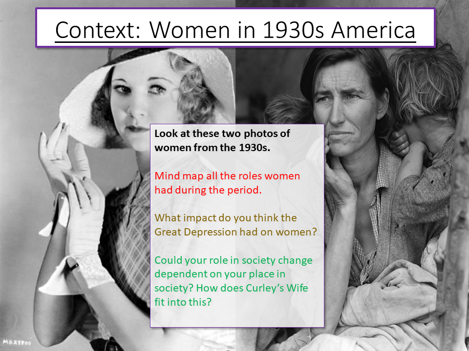 Of Mice and Men - Women in Context