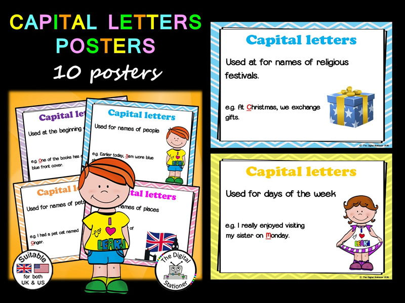 Capital Letters Posters Literacy - 10 posters