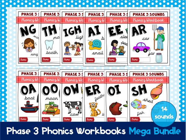 Phase 3 Phonics Workbook Mega Bundle