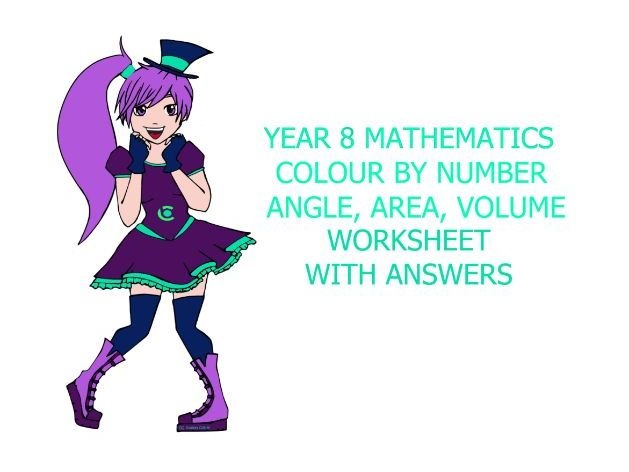 Colour-By-Number Angles, Area and Volume Yr 8