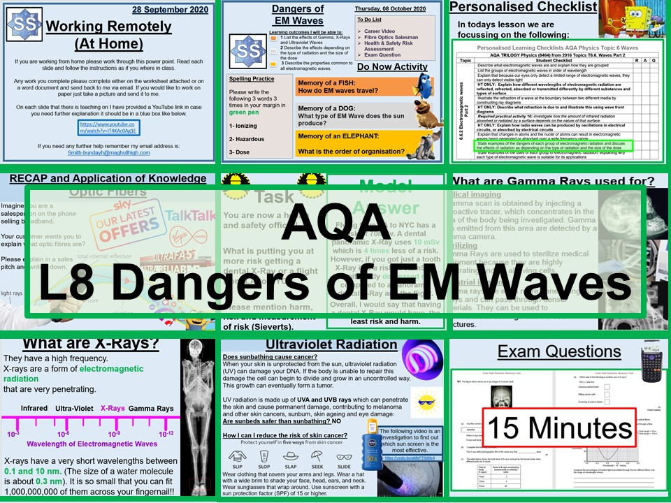 Physics- Dangers of EM Waves AQA GCSE Lesson