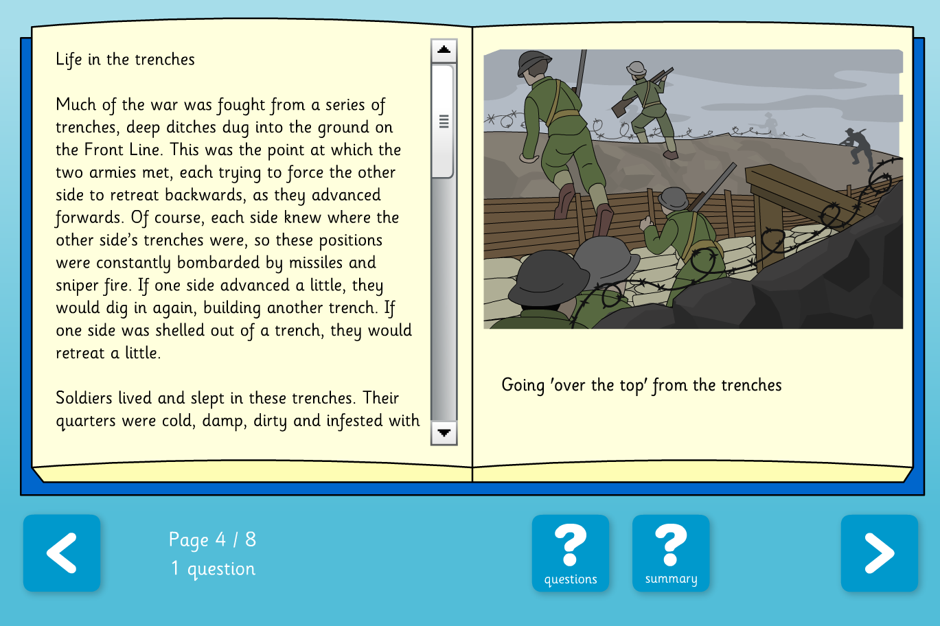 The World Wars Comprehension Book - Reading Level C  - KS2