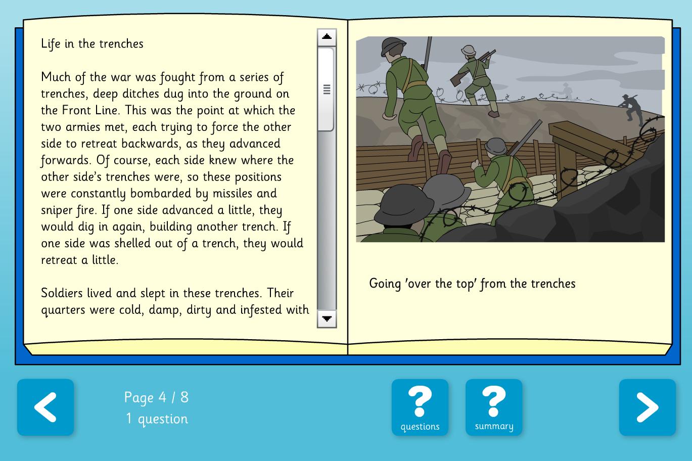 The World Wars Comprehension Book - Reading Level C  - KS2