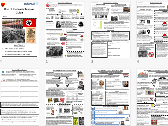 9-1 GCSE Edexcel - Rise of the Nazis Revision Guide