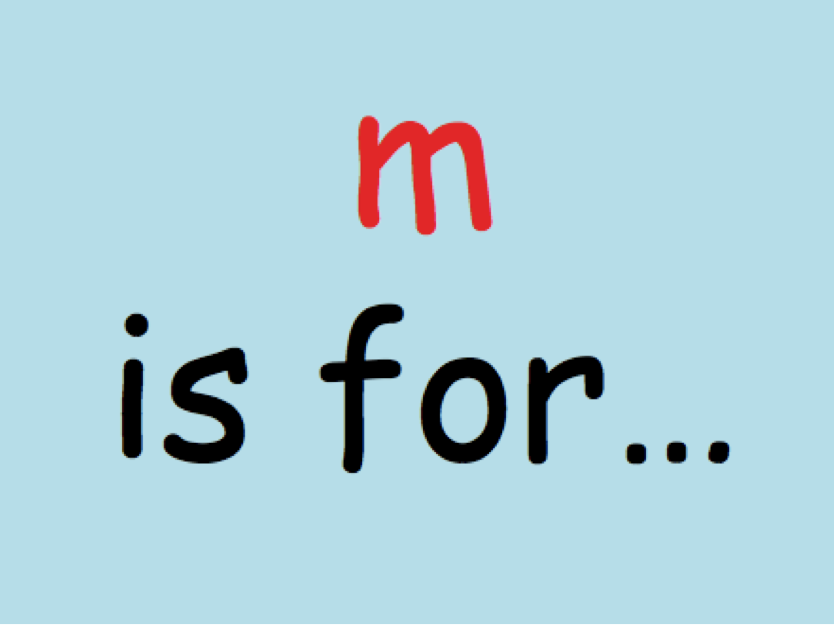 """m"" Phonics Powerpoint"