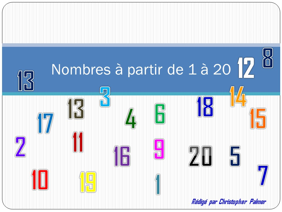 French: Numbers 1-20
