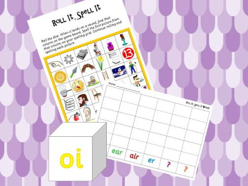 Phonics Phase 3 Roll It Spell It