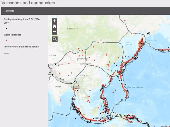 Discovering tectonics and earthquakes through GIS and interactive mapping
