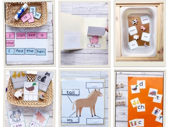 Summer literacy and phonics pack for Early Years ( Farm )