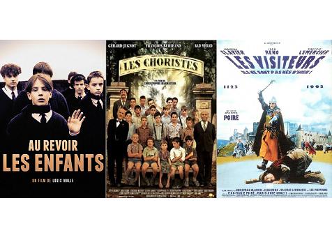 French cinema: Au Revoir les Enfants + Les Choristes + Les Visiteurs