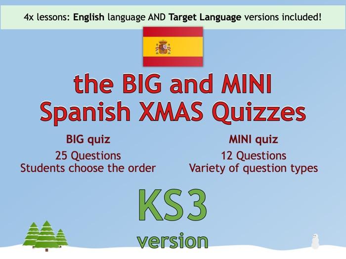 The BIG & MINI Spanish Christmas Quiz (KS3 version)