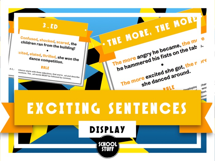 Exciting Sentences English Display - Based on Alan Peat - School Stuff