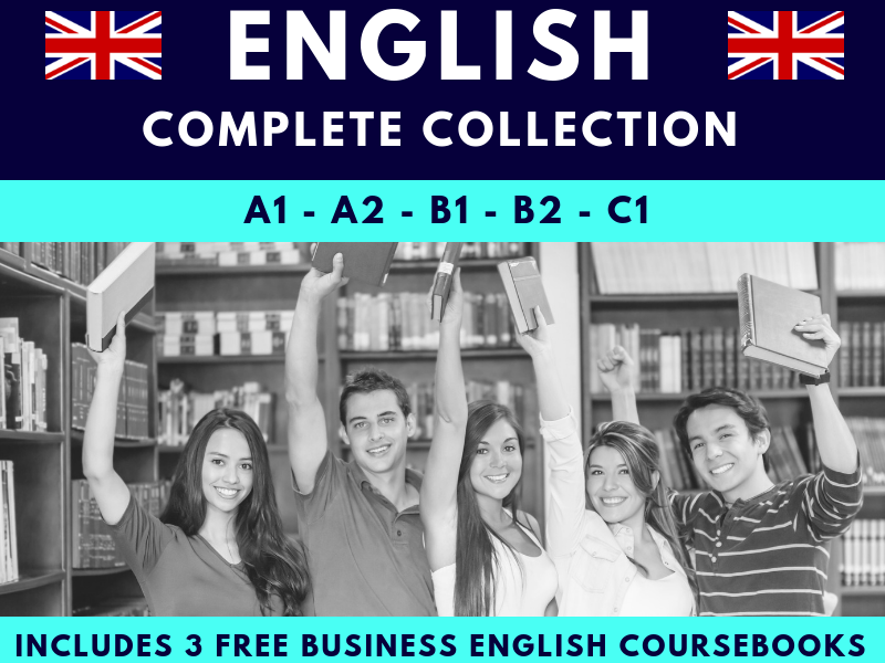 A1-A2-B1-B2-C1 & Business English Levels 1,2 & 3 Coursebook Collection For ESL
