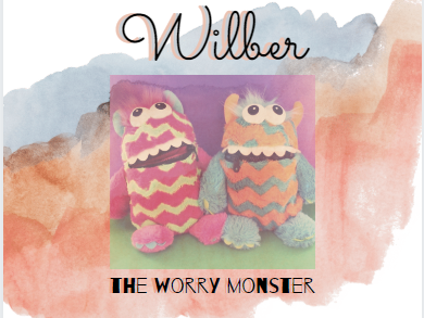Worry Monster Poster and Post Cards