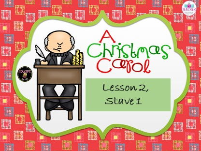Complete resources for lesson 2 of A Christmas Carol, Stave 1, GCSE English Literature 9-1