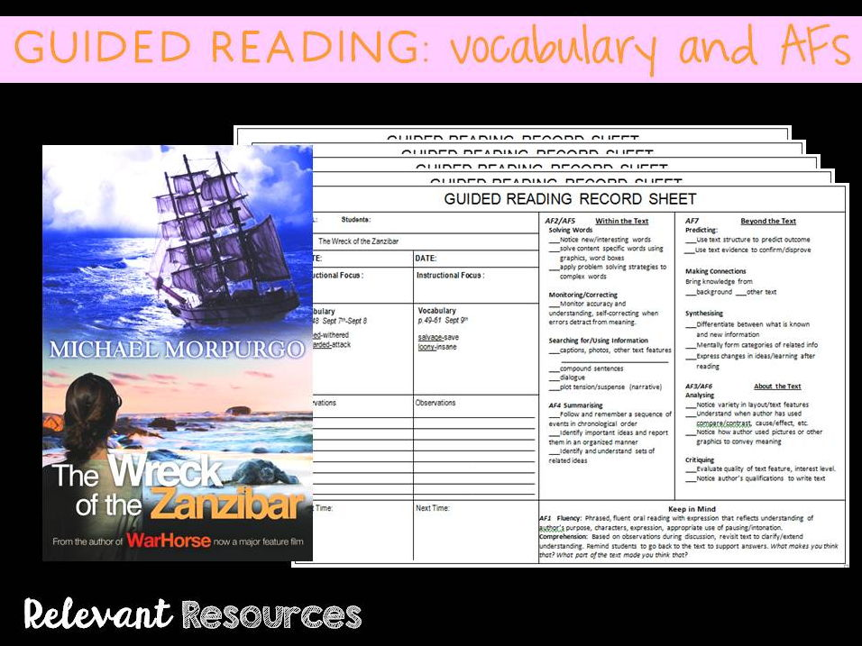 Guided Reading: Wreck of the Zanzibar