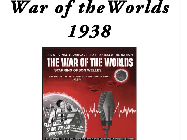 AQA Media Studies War of the Worlds CSP