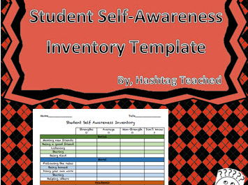Student Self Awareness Inventory Template