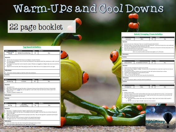 KS1 / KS2 Warm Ups and Cool Downs for PE Booklet