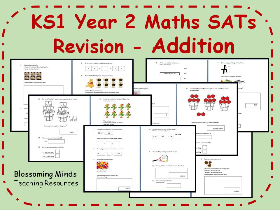ks1 year 2 maths sats revision addition differentiated levels by blossomingminds teaching. Black Bedroom Furniture Sets. Home Design Ideas
