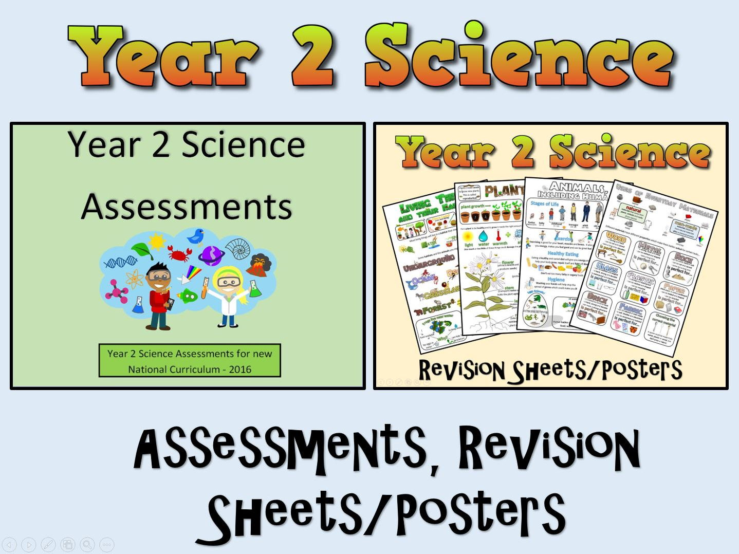 Year 2 Science Assessments + Posters/Revision Sheets