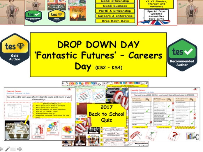 Careers Enterprise and Employability Skills  Drop Down Day  'Fantastic Futures'