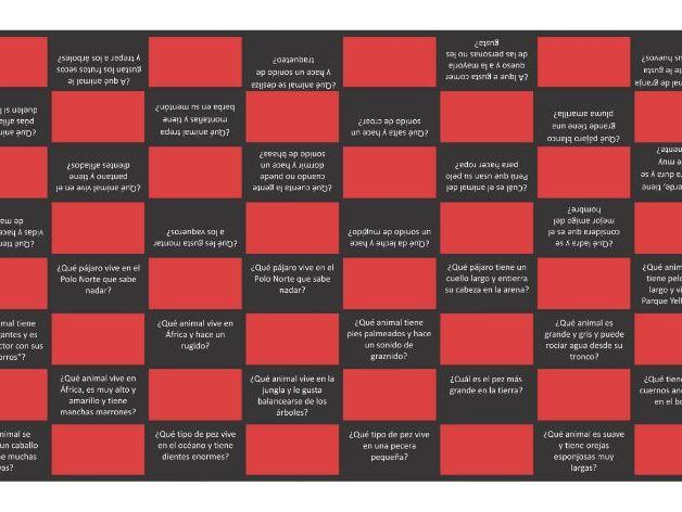 Animals Spanish Checkers Game