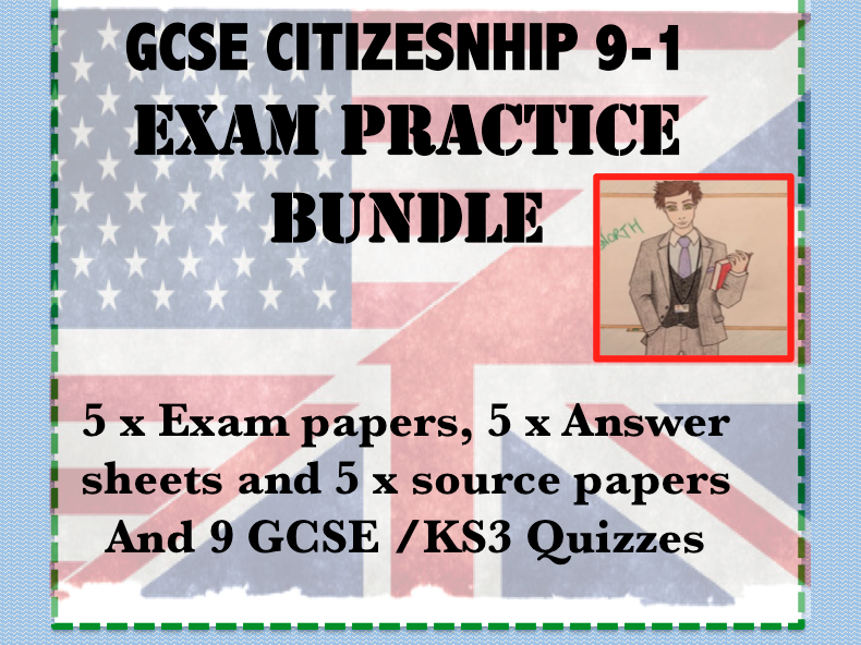 GCSE Citizenship 9-1  5x Example Assessments with Answers