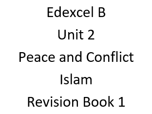 GCSE Religious Studies Edexcel B Peace and Conflict  revision and intervention workbooks