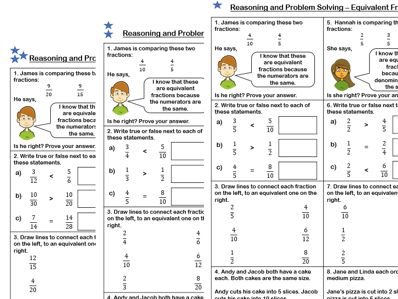 White Rose Maths Year 4 Spring Block 3 Fractions Equivalent Fractions Problem Solving Teaching Resources