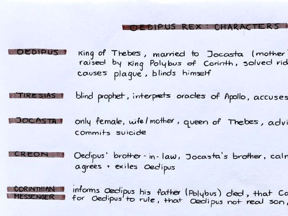 Oedipus Rex character list
