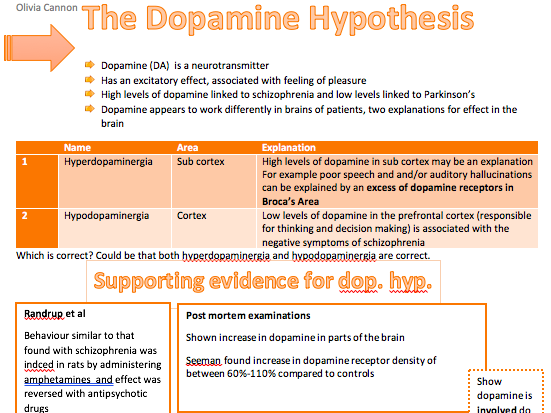 Schizophrenia Revision Booklet | A Level Psychology Revision AQA New Spec