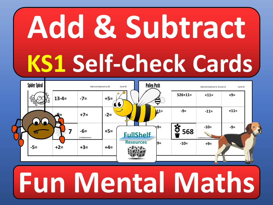 Addition and Subtraction KS1 Maths Activities