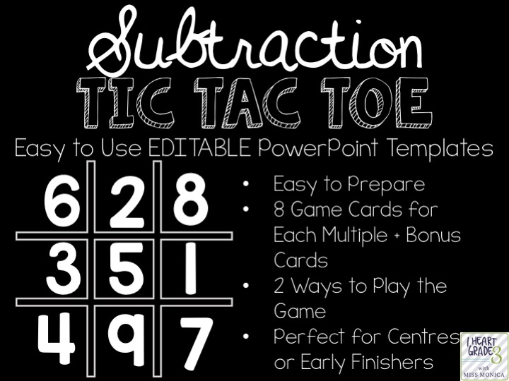 Subtraction Tic Tac Toe