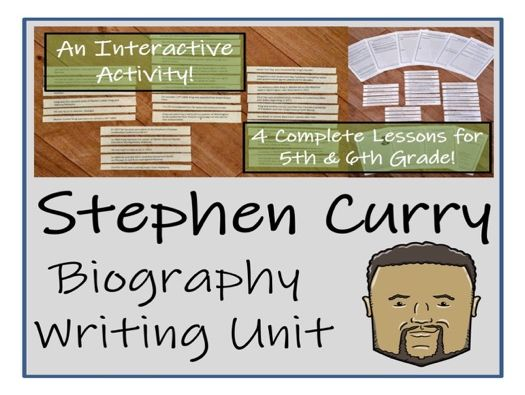 UKS2 Literacy - Stephen Curry Biography Writing Unit