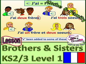 PRIMARY FRENCH LESSON (KS2/3): Family; How many brothers and sisters you have; Numbers 1-12 Song;